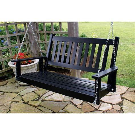 porch swing black plantation 50 slatted porch swing black paint dcg stores