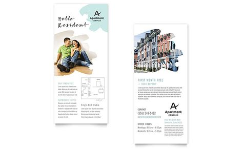 free rack card template class schedule apartment rack card template design