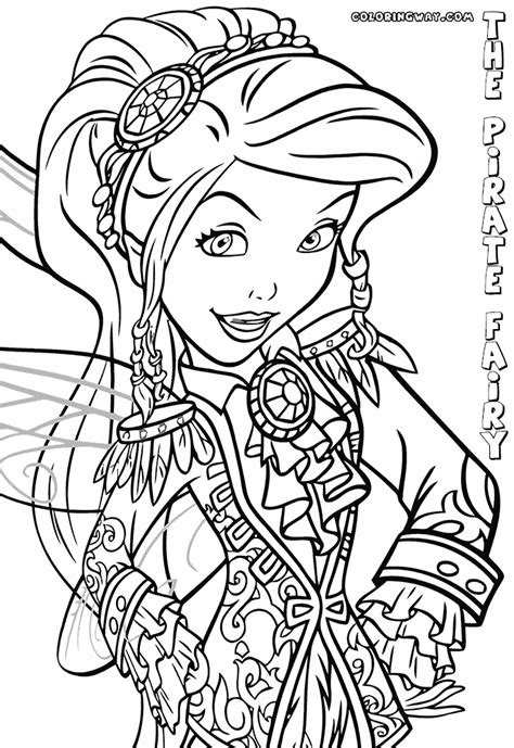 the pirate fairy coloring pages coloring pages to