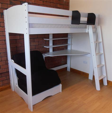 youth bed with desk high sleeper with desk shelves and chair bed scallywag