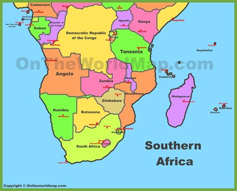 southern africa map map of southern africa my
