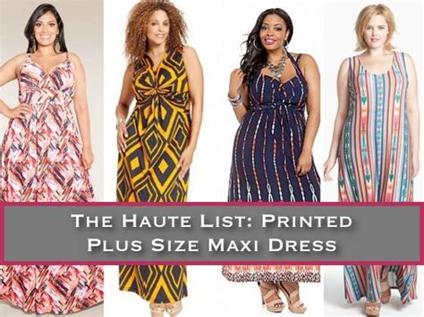 The Haute List by The Haute List 10 Printed Plus Size Maxi Dresses