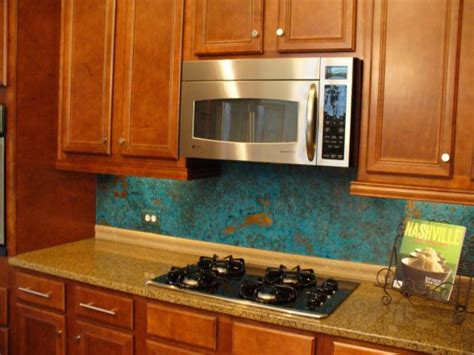 copper backsplash for kitchen copper backsplash kitchen