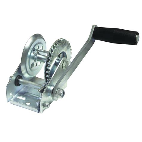 invincible boat parts invincible marine 600 lb zinc plated trailer winch with