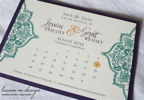 save the date wedding invitations sles unique wedding save the dates calendar design invitations on etsy cultural onewed