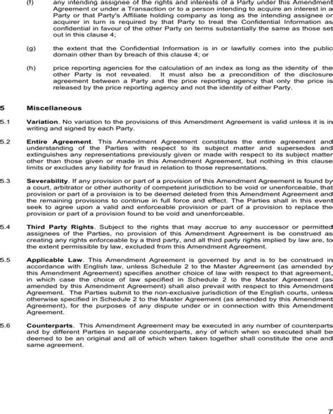 download contract amendment template for free page 7