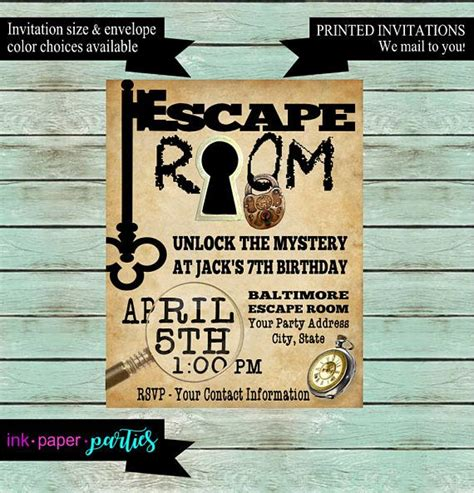 printable escape room 37 best birthday images on pinterest escape room