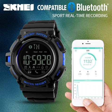 Skmei Jam Tangan Olahraga Smartwatch Bluetooth 1249 skmei jam tangan olahraga smartwatch bluetooth dg1245 bl black blue jakartanotebook