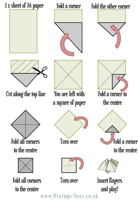 How To Make A Paper Football Step By Step - free paper fortune teller printable templates origami