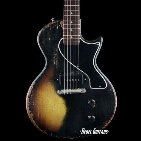 rock n roll relics rebel guitars rock n roll relics thunders sc in black over burst