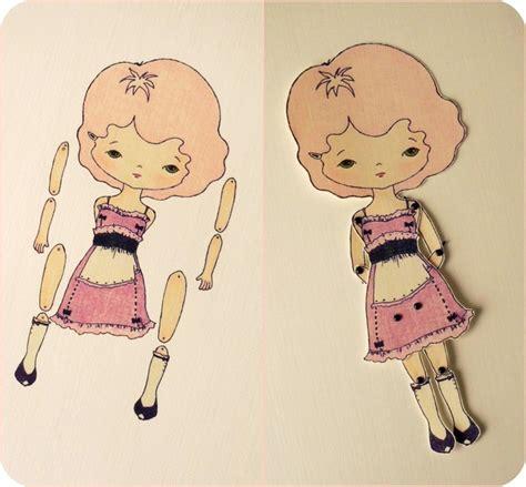 jointed doll giveaway 1657 best poupee en papier images on paper