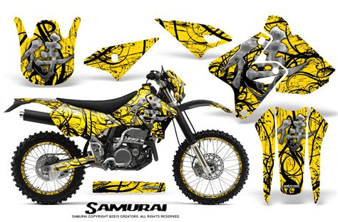 Decal Wheells Samurai Universal suzuki drz400 enduro creatorx graphics kit samurai black