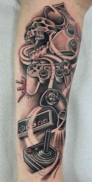old school video game tattoo video game tattoos for men gamer tattoo ideas for guys
