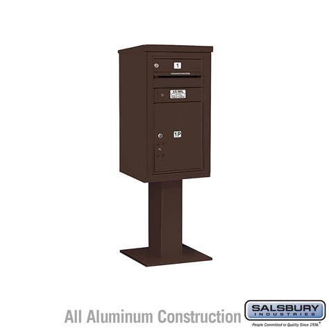 Pedestal Mailboxes salsbury industries 3408s 01brz 4c pedestal mailboxes 1