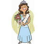 A Beauty Queen Winning Competition Clipart Picture