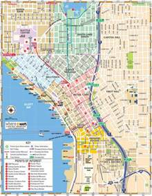 Map Downtown Seattle by Map Of Downtown Seattle Interactive And Printable Maps