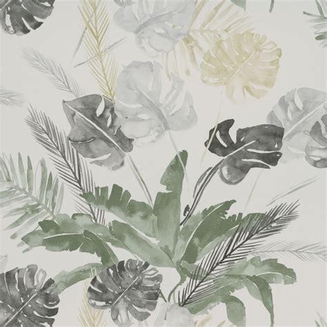 Grey Jungle Wallpaper | jungle watercolour gold and silver grey floral 3900020