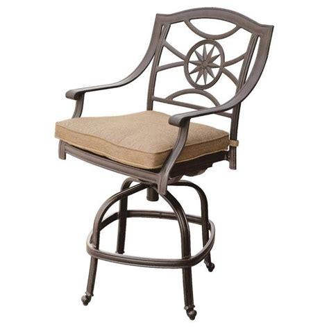 patio bar stools swivel darlee ten star swivel patio bar stool in antique bronze