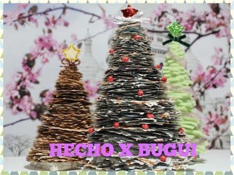 como adornar un arbol de navidad de papel como hacer un arbol de navidad con papel de peri 243 dico