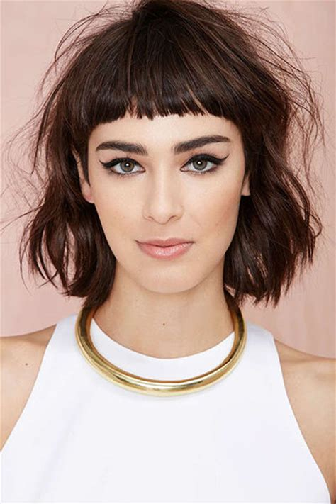 choppy flick fringe style choppy baby bangs with long bob pictures photos and