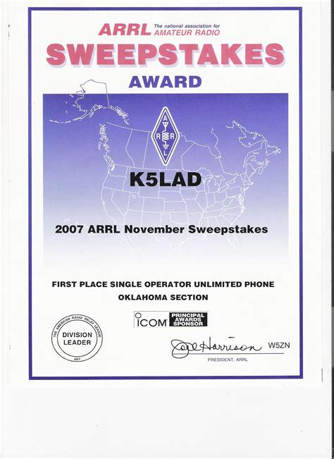 Arrl Sweepstakes - index of jpk5lad assorted ham stuff k5lad awards