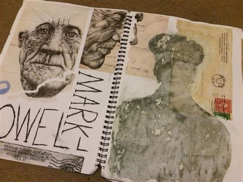 sketchbook gcse powell artist research page journals