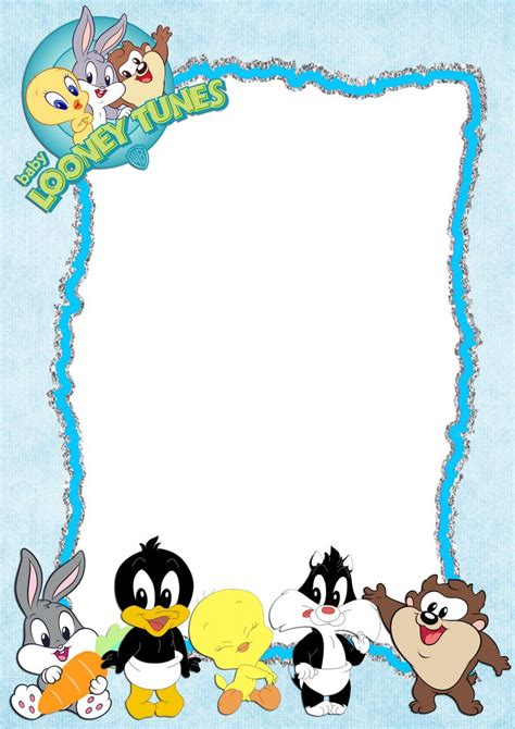 19 Best Images About Looney Tunes On Pinterest Baby Shower Parties Free Printable And Baby Looney Tunes Invitations Templates
