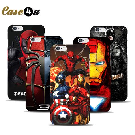 Superhero Bedroom Accessories marvel avengers superhero case for coque iphone 7 7plus 6