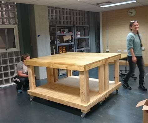 bench on casters woodworking