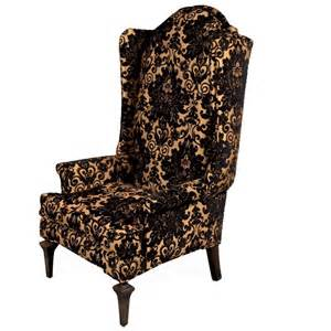 Midcentury Modern Armchair The Black And Gold Royale High Back Chair At 1stdibs