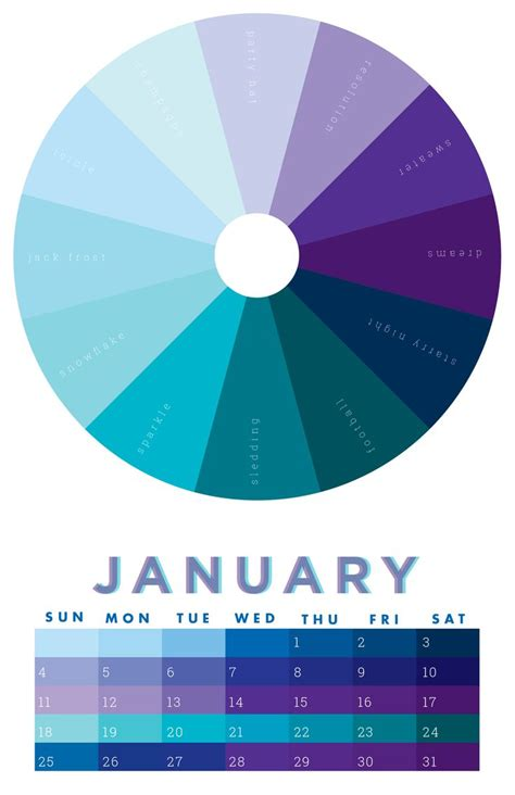 january color 14 best color wheel 2012 calendar images on