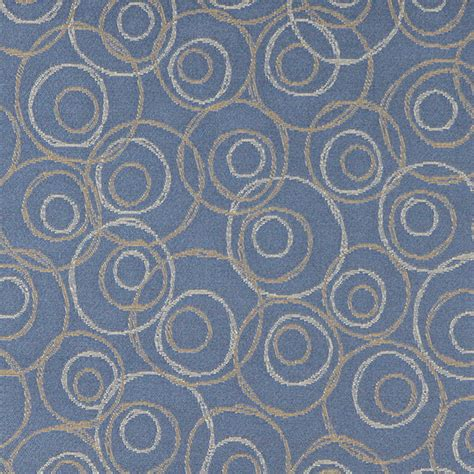 Blue Gold And White Overlapping Circles Durable Upholstery