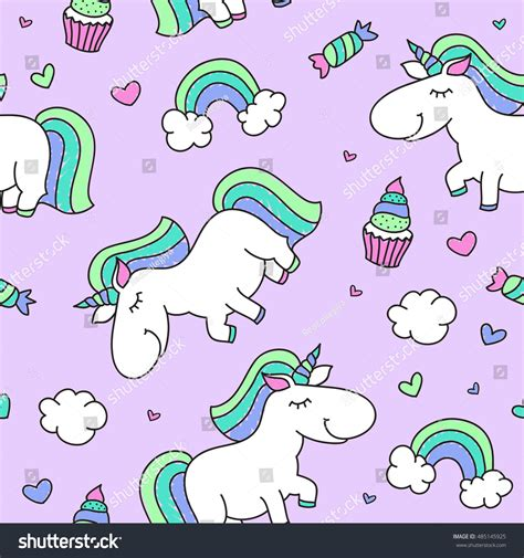 cute baby pattern stock vector image of horse collection vector seamless pattern cartoon cute unicorn stock vector