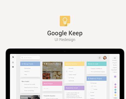 google keep design google keep concept design on behance