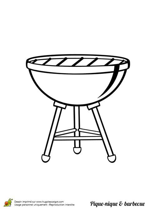 Coloriage barbecue sur Hugolescargot.com