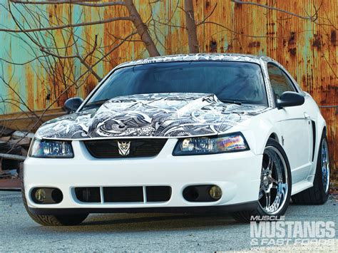 1999 white ford mustang 1999 ford mustang gt sharpie masterpiece photo image