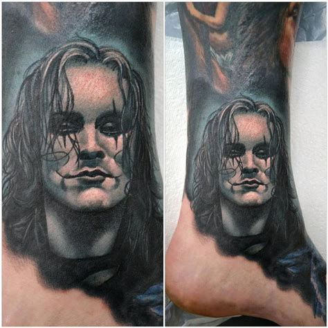the crow tattoo the mini portrait by alan aldred tattoos