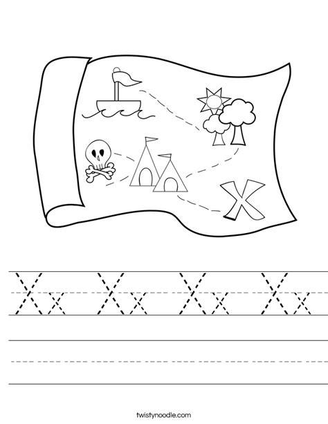 coloring page x marks the spot xx xx xx xx worksheet twisty noodle