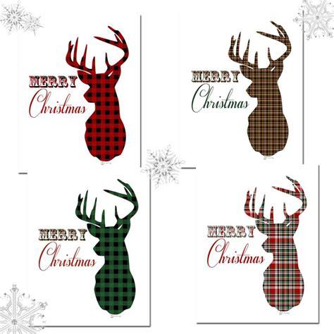 printable christmas deer christmas tree and deer plaid christmas prints the birch