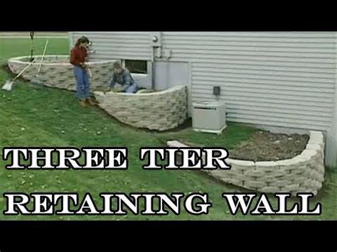 build   tier retaining wall youtube