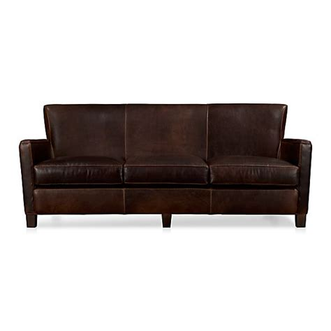 briarwood leather sofa oak crate and barrel
