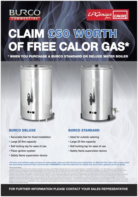 Promo Penghemat Gas Lpg Special claim 163 50 worth of free gas with burco catering equipment suppliers