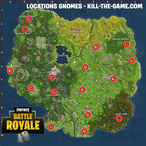 where fortnite letters are located fortnite challenge week 7 where to find gnomes in