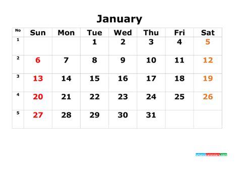 printable calendar template january     image  printable  calendar templates