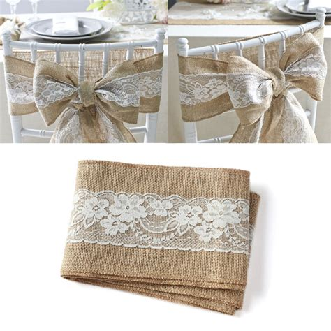 lace chair sashes east aliexpress buy 100pcs pack burlap chair sash with
