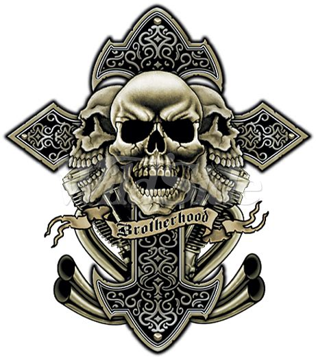 gangsta cross tattoos cross skulls exhaust 12875 tatts skull tattoos