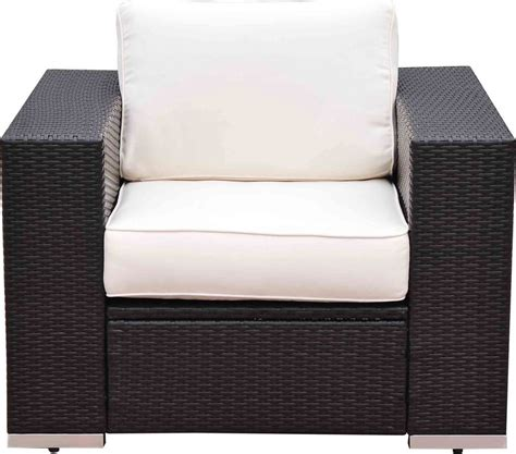 7 piece wicker sectional sofa outsunny 7 piece wicker outdoor sectional sofa set patio