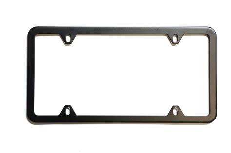 0250399 saab license plate frame black genuine saab