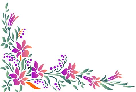 flower design page borders orchid clipart corner pattern pencil and in color orchid
