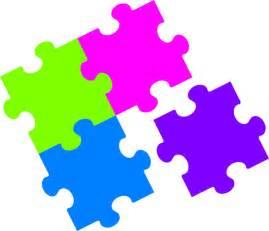 jigsaw puzzle color clip art at clker com vector clip